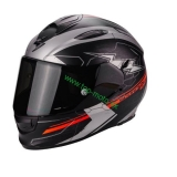 Scorpion EXO-510 Air Cross Matt Black Silver Neon Red