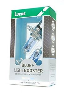 Lucas H4 12V 60/55W +50% Blue Light Booster Box