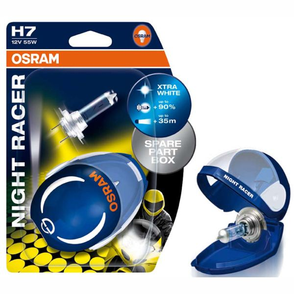 "Osram 12V H7 55W PX26D NIGHT RACER ""Twinblister"""