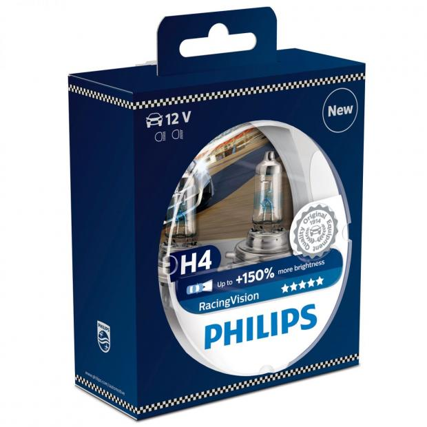 Philips Racing Vision H4 12V 60/55W +150% Box