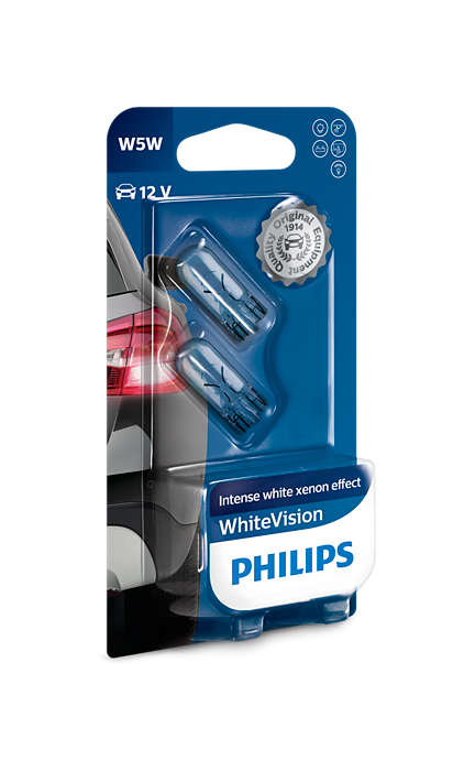 Philips W5W 12V White vision box