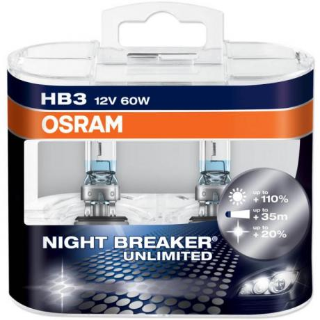 Osram Night Breaker Unlimited +110% 12V HB3 60W Box
