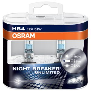 Osram Night Breaker Unlimited +110% 12V HB4 51W Box