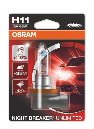 Osram Night Breaker Unlimited +110% 12V H11 55W